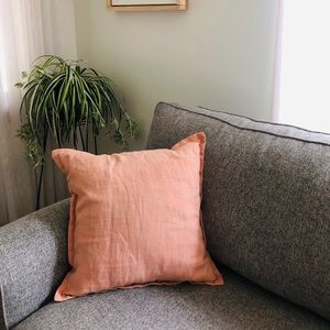 Threshold Light Pink Linen Pillow Cover